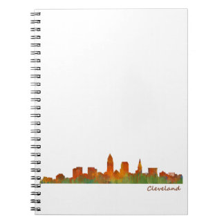 Cuaderno cleveland Ohio USA Skyline city v01