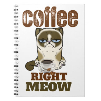 Cuaderno Coffee Right Meow