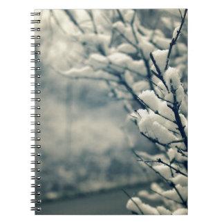 Cuaderno Cojín de ratón del árbol Nevado