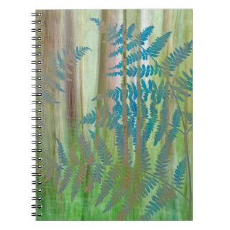 Cuaderno Collage de los helechos y del bosque el   Seabeck,