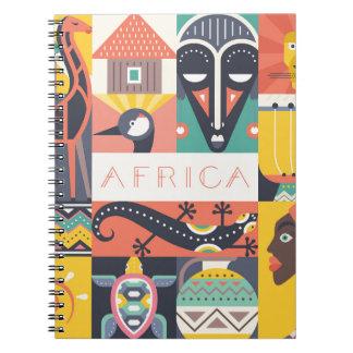 Cuaderno Collage simbólico africano del arte