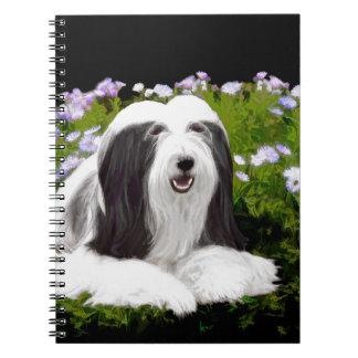 Cuaderno Collie barbudo (pintado)