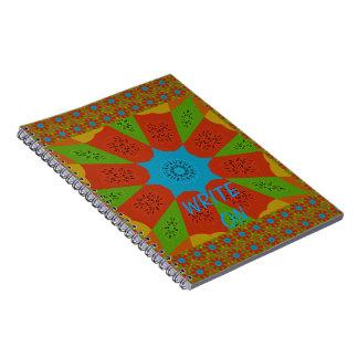 Cuaderno Colores femeninos africanos asombrosos hermosos