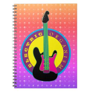 Cuaderno Colores frescos de neón de la música rock de la