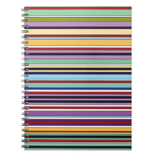 Cuaderno colorful of stripes summer