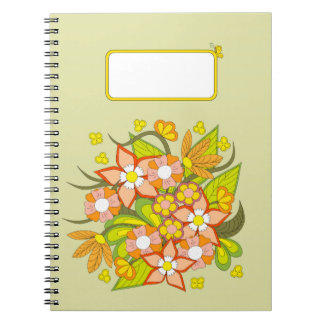 Cuaderno colorful summer bouquet