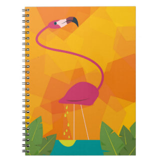 Cuaderno colorido del flamenco tropical divertido