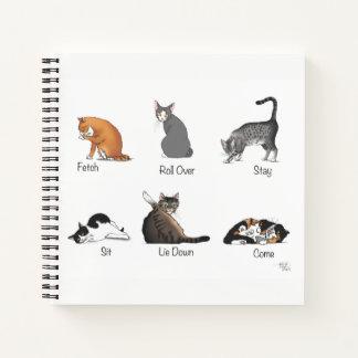 Cuaderno Comandos del gato