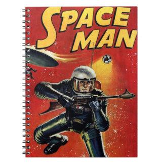 Cuaderno Cómic del vintage del hombre del espacio