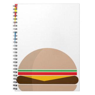 Cuaderno comida de alimentos de preparación rápida
