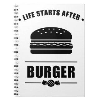Cuaderno Comienzo de la vida después de la HAMBURGUESA