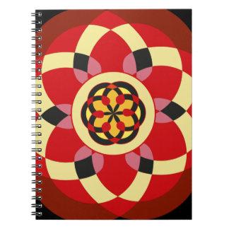 Cuaderno con dibujos geométricos