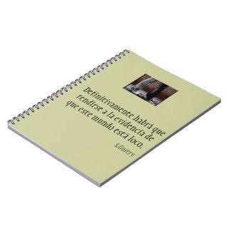 Cuaderno con frase de cine de Sacha Guitry