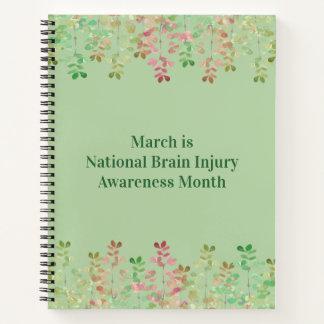 Cuaderno Conciencia de la lesión cerebral del verde del
