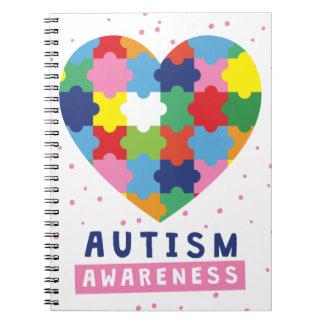 Cuaderno conciencia rosada del autismo