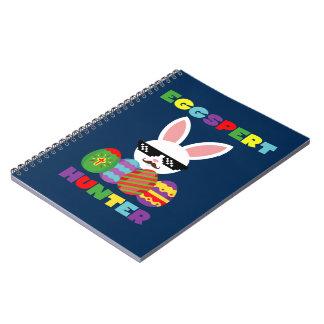 Cuaderno Conejito de pascua que salta rosado divertido para