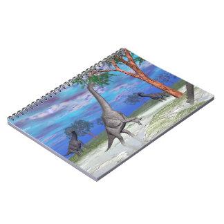 Cuaderno Consumición del dinosaurio del Brachiosaurus - 3D