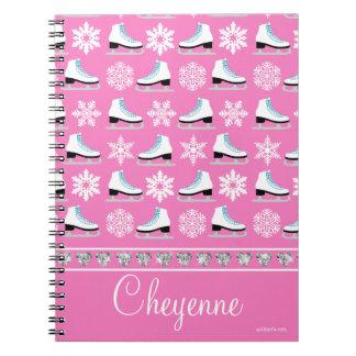 Cuaderno Copos de nieve y figura personalizados modelo de