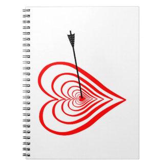 Cuaderno Corazón blanco con flecha