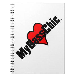 Cuaderno Corazón carmesí de MyBassChic (TM)