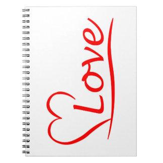 Cuaderno Corazón con amor