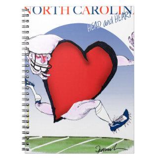 Cuaderno corazón principal de Carolina del Norte, fernandes
