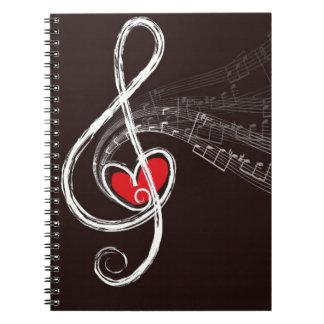 Cuaderno Corazones de la música