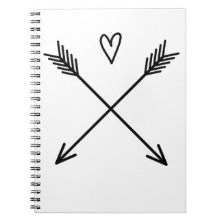 Cuaderno Corazones y flechas