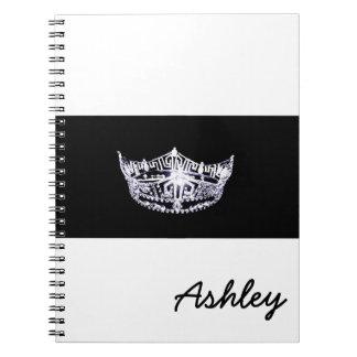 Cuaderno-Corona del estilo de Srta. América y Libro De Apuntes Con Espiral