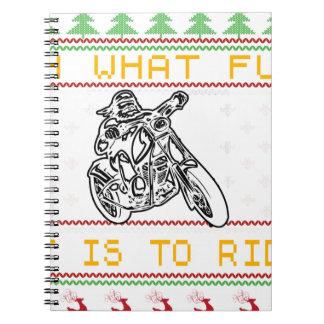 Cuaderno corte del diseño de la motocicleta