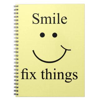 Cuaderno Cosas del arreglo de la sonrisa