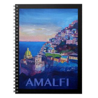 Cuaderno Costa retra Italia de Amalfi del poster