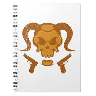 Cuaderno Cráneo con el arma
