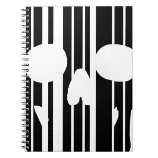 Cuaderno Cráneo del código de barras