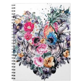 Cuaderno Cráneo del el día de San Valentín con los