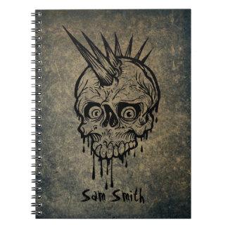Cuaderno Cráneo personalizado del punk de //
