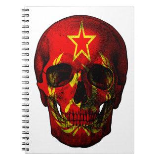 Cuaderno Cráneo ruso de la bandera