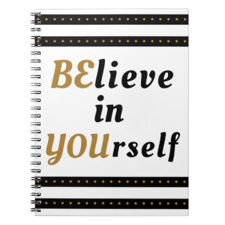 Cuaderno Crea en sí mismo la cita inspirada