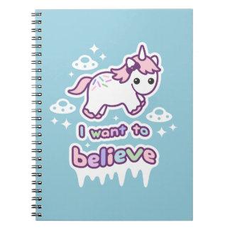 Cuaderno Crea en unicornios y extranjeros