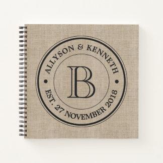 Cuaderno Cree su propio monograma del aniversario del