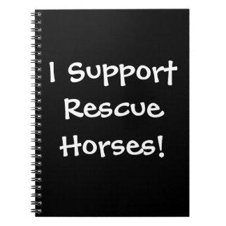 Cuaderno ¡Cuaderno de la ayuda del caballo del rescate!