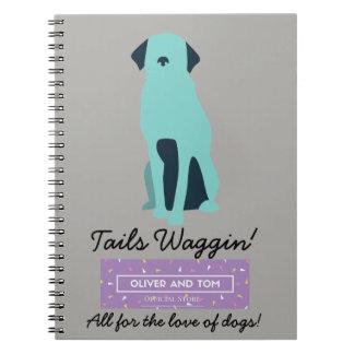 Cuaderno ¡Cuaderno de la caridad de Waggin de las colas!