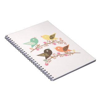 Cuaderno Cuatro pájaros