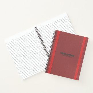 Cuaderno Cuero rojo monocromático