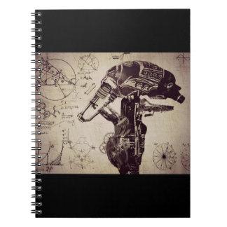 Cuaderno Culto de la máquina (realización)
