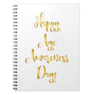 Cuaderno Cumpleaños divertido de la edad de la conciencia