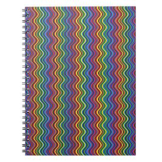 Cuaderno Curvas coloridas