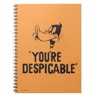 """Cuaderno DAFFY clásico DUCK™ """"usted es despreciable """""""