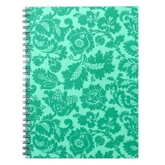 Cuaderno Damasco, turquesa y aguamarina florales de William