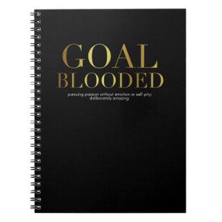 Cuaderno de Blooded de la meta
